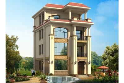 100平四层欧式别墅设计图,村里人看了很眼红。
