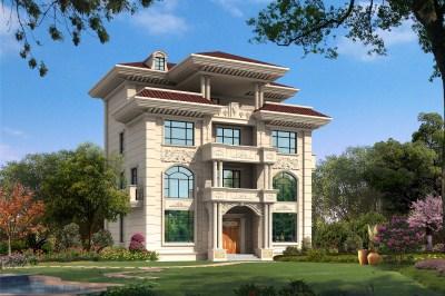 农村四层别墅自建房屋设计图,外观效果非常气派