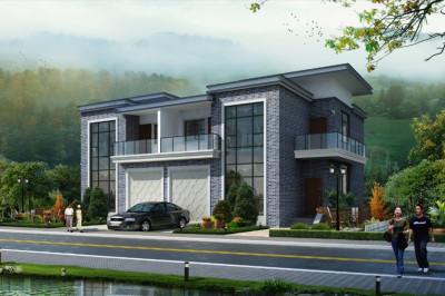 新中式二层双拼小别墅推荐设计图,独栋别墅,户型可以自由发挥