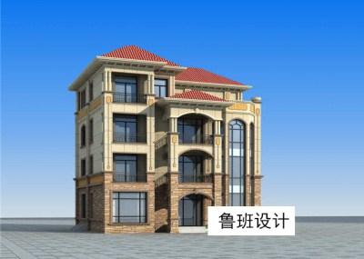 豪华带露台四层别墅自建房设计图,户型设计精美阔气