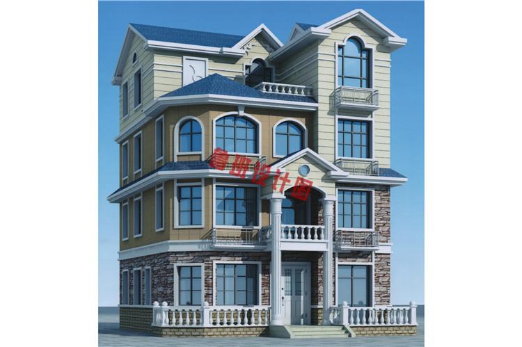 新农村四层别墅楼房设计效果图