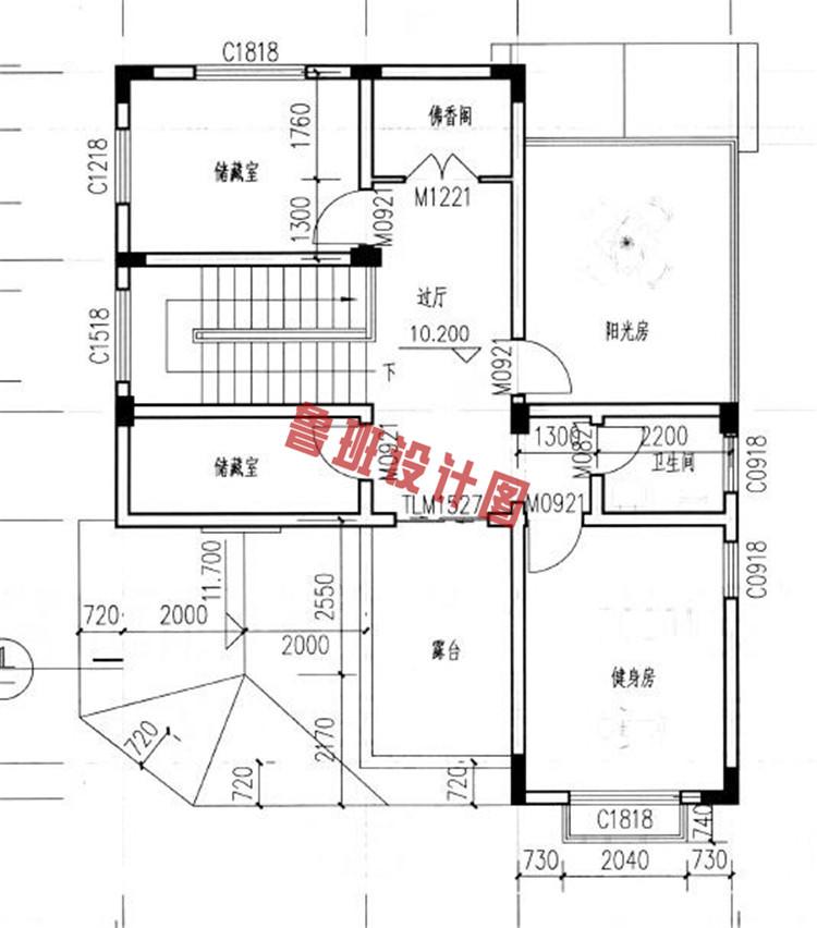 新农村四层别墅楼房设计四层户型图