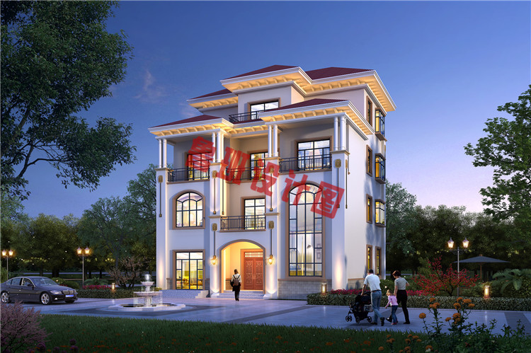 新农村四层复式小楼设计效果图