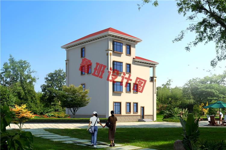 新农村四层复式小楼设计背面图