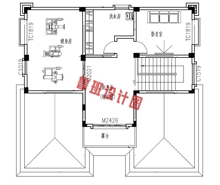新农村四层复式小楼设计四层户型图