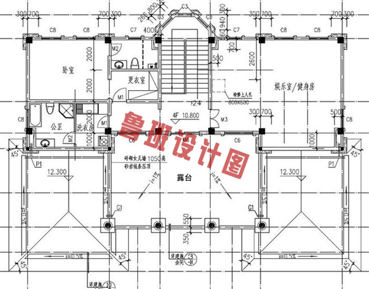 欧式四层别墅设计四层户型图
