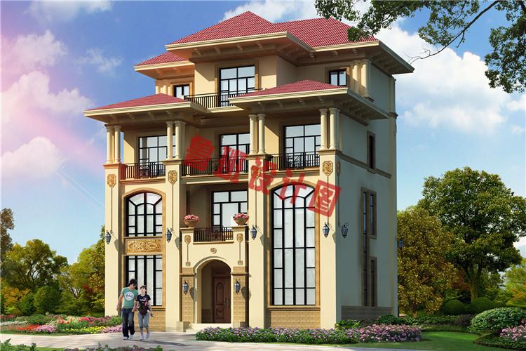 农村四层复式楼房设计效果图
