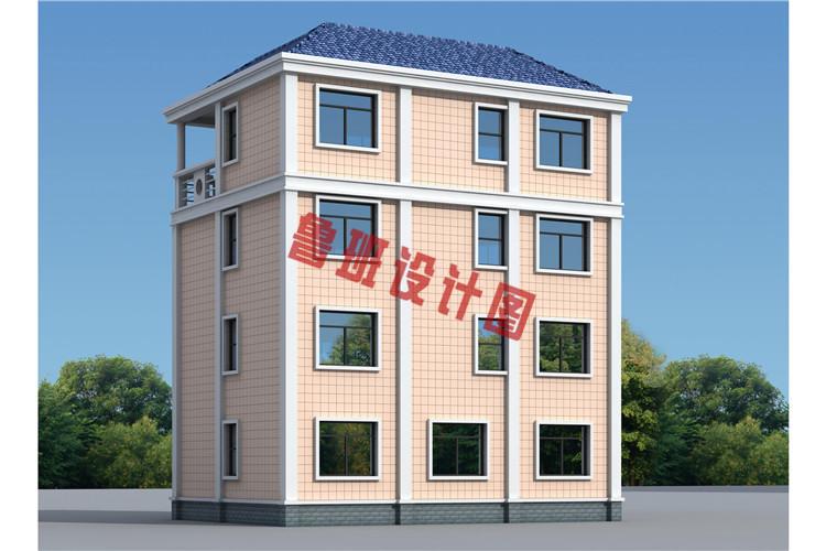 小户型四层别墅设计背面图