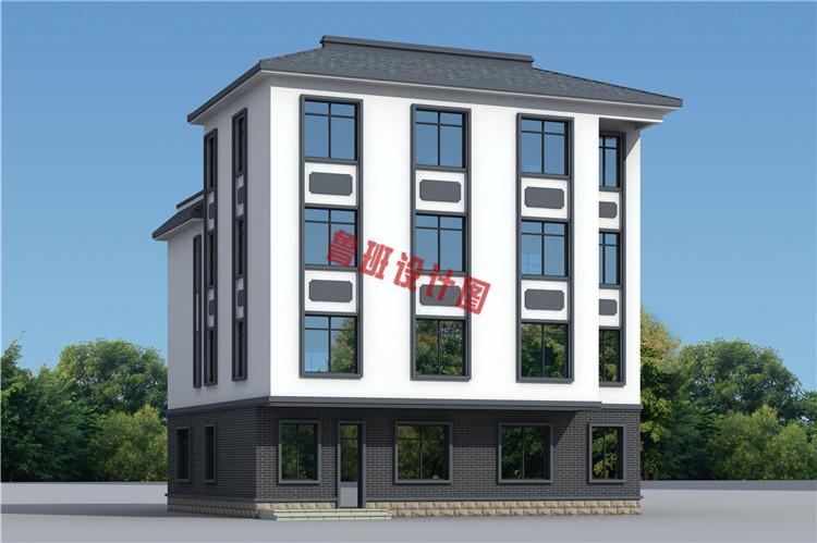 新中式四层独栋房屋设计图片