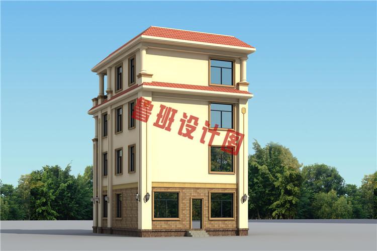 四层欧式别墅设计背面图