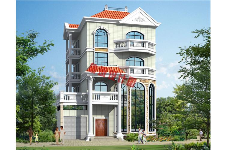欧式风格四层自建房设计效果图