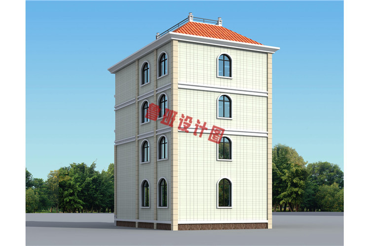 欧式风格四层自建房设计图片