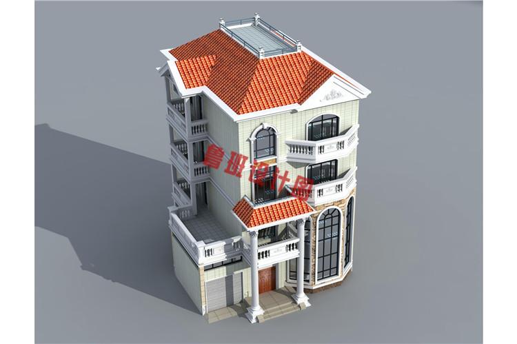 欧式风格四层自建房设计外观图