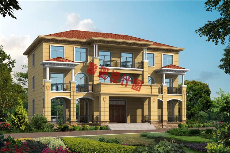 简约欧式三层双拼别墅设计效果图