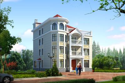 160平农村四层别墅房屋设计图,外观精致气派。