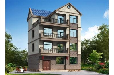 简单实用农村四层别墅房屋设计图,美观大气