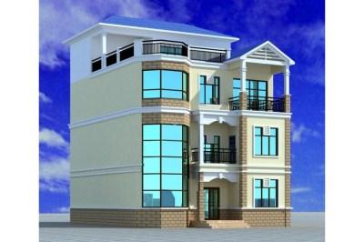 130平农村四层复式楼房设计图,外观美观
