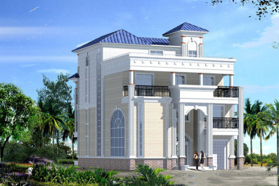 农村三层半农村房屋设计图,占地160平好看又实用。