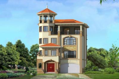 高档豪华四层半别墅房屋设计图,一款新农村建设受欢迎的户型。
