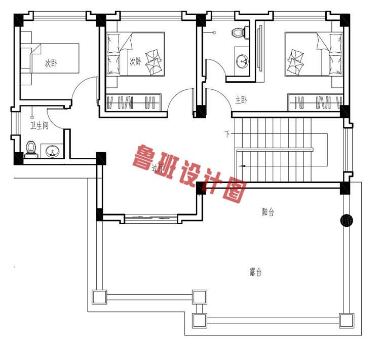 四层农村复式楼房设计四层户型图