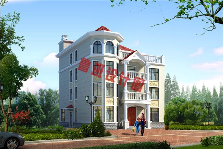 160平农村四层别墅设计效果图