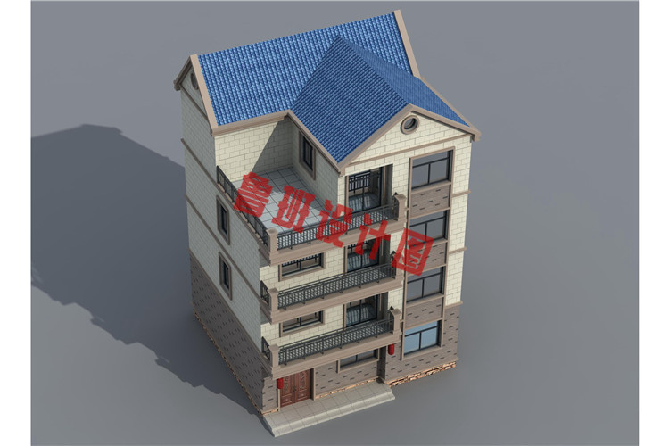 简单实用农村四层别墅房屋设计图片