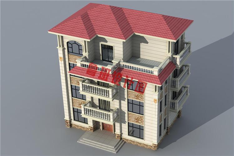 欧式高端大气四层别墅自建房屋设计外观图