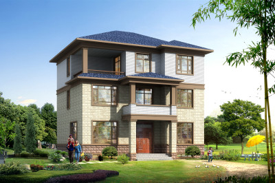 2019款新式三层小别墅设计图方案,色彩明亮端庄,人性化的设计