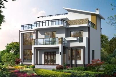 10×11米农村现代三层别墅设计图,40万打造别墅引来全村围观?