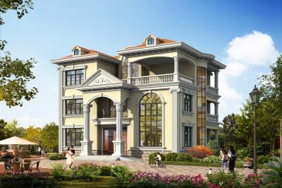 50万三层农村自建房设计图,造型新颖,外观和实用性并驾齐驱。