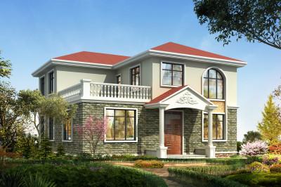 农村两层楼房设计图,25万就能建好,经济又实用