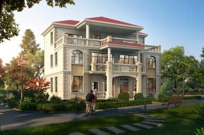 新款砖混结构豪华三层双拼别墅房屋设计图