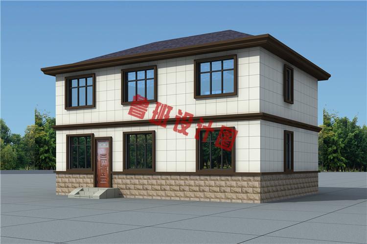 二层新中式小楼设计背面图