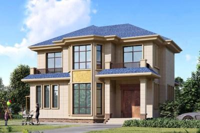 12×11米经济实用二层别墅房屋设计图,外观偏欧式