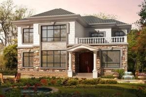 14.2米×12米农村二层自建房屋设计图,外观给99份
