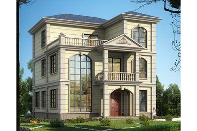 120平米农村三层小楼设计图,新颖独特、简约大