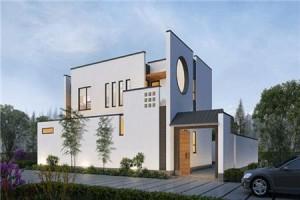 新中式带院子的住宅设计图,附送室内装修效果图