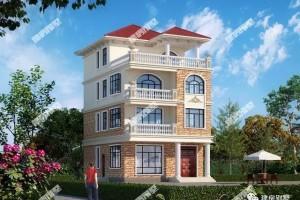 小面积小户型四层自建楼房设计图,小户型也能建出高档感