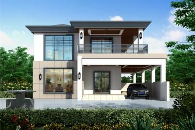 新款现代二层小别墅设计图,25万享受生活,简简单单就好。