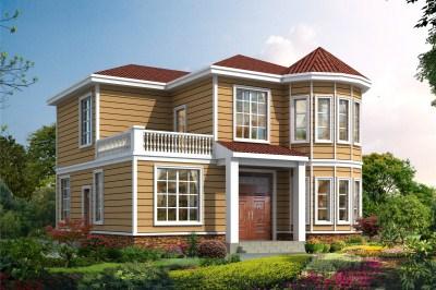 新型农村二层小别墅自建房屋推荐,简单大方,漂亮接地气。
