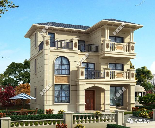三层农村别墅,婉约精致,实用美观,连大老板们都打心眼里喜欢!