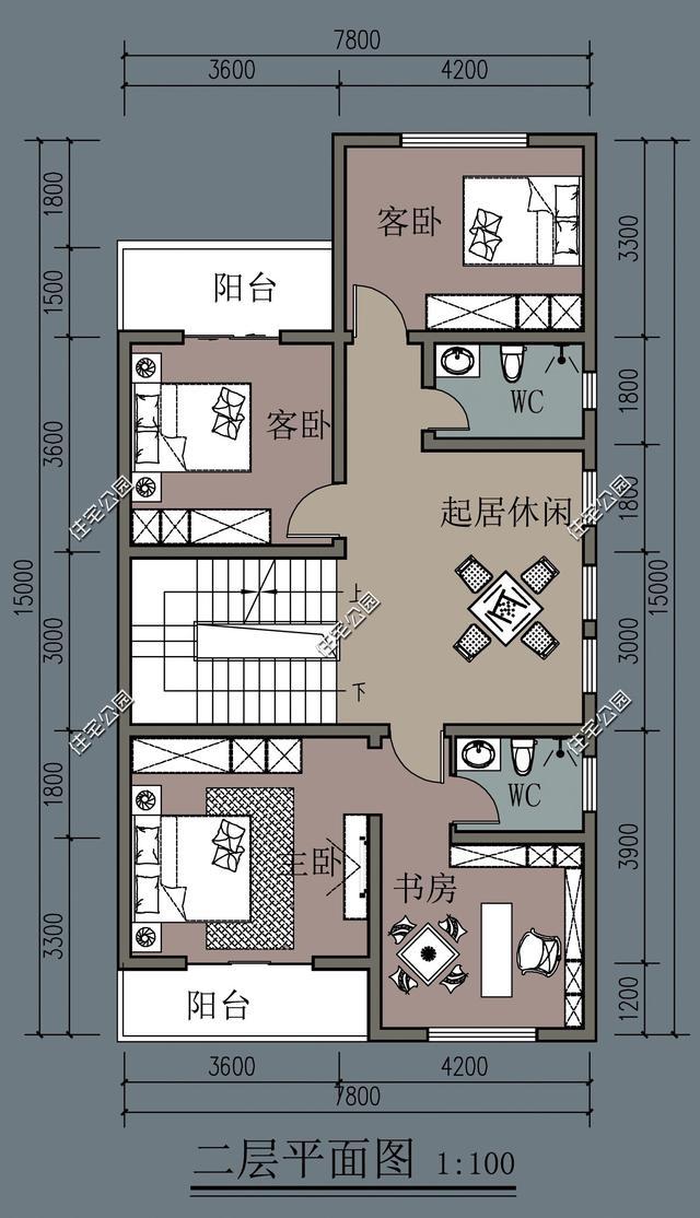 同样都是农村自建房,为啥别人家的7米面宽,布局就比你家的好