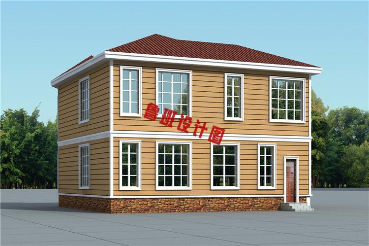 新型农村二层小别墅自建房外观图