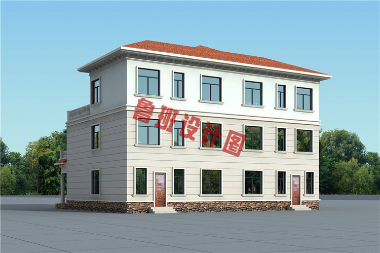 最新三层双拼自建别墅设计图片