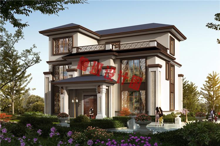 新中式三层小别墅效果图