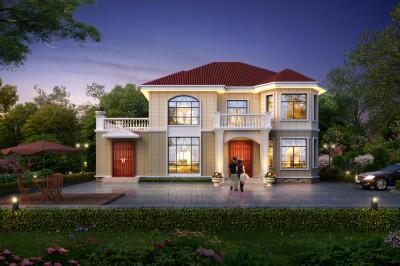 农村二层欧式别墅户型方案,农村自建一栋,人人羡慕不已。