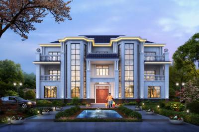 豪华又经济的农村三层双拼欧式别墅,100万建房就选他了。
