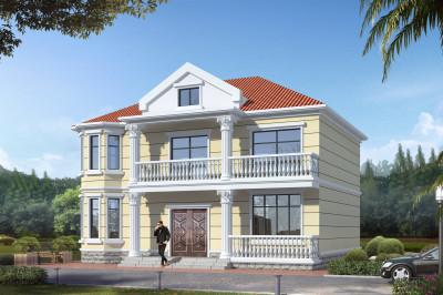 简单普通的二层房屋民宅设计图,不用借钱都能建一栋。