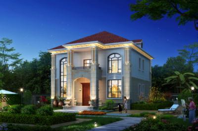农村别墅二层三间的房子设计图,主体22万就能搞定