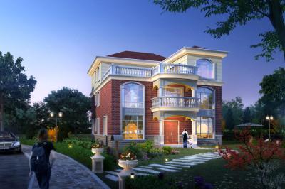 170平米的三层农村自建房别墅图,衣锦还乡就回家盖一栋。